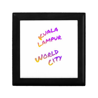 Kuala Lampur world city, colorful text art Gift Box