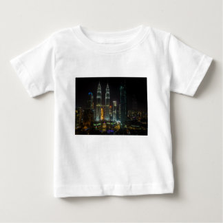 Kuala Lumpar Skyline At Night Baby T-Shirt