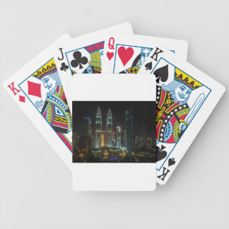 Kuala Lumpar Skyline At Night Bicycle Playing Cards