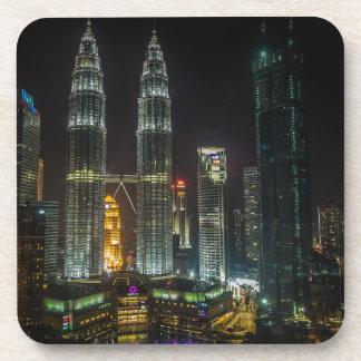 Kuala Lumpar Skyline At Night Coaster