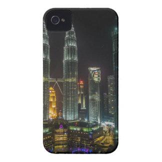 Kuala Lumpar Skyline At Night iPhone 4 Cases