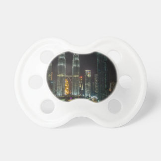 Kuala Lumpar Skyline At Night Pacifier