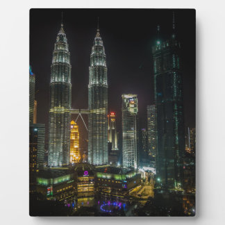 Kuala Lumpar Skyline At Night Plaque