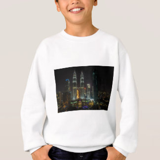 Kuala Lumpar Skyline At Night Sweatshirt