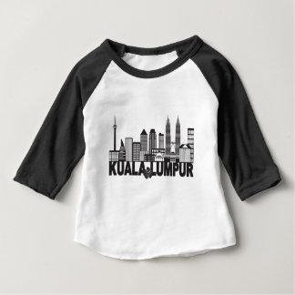 Kuala Lumpur City Skyline Text Black and White Ill Baby T-Shirt