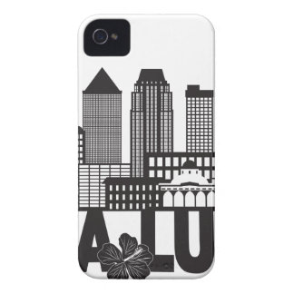 Kuala Lumpur City Skyline Text Black and White Ill iPhone 4 Covers