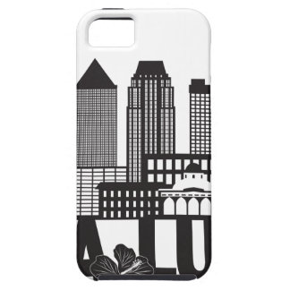 Kuala Lumpur City Skyline Text Black and White Ill iPhone 5 Cases