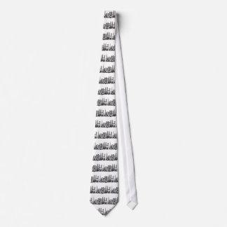 Kuala Lumpur City Skyline Text Black and White Ill Tie