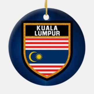 Kuala Lumpur Flag Ceramic Ornament