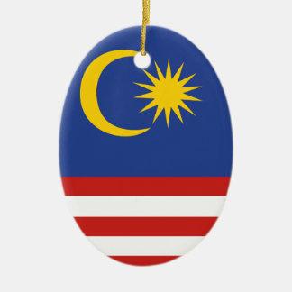 kuala lumpur flag ceramic oval ornament