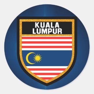 Kuala Lumpur Flag Classic Round Sticker
