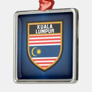 Kuala Lumpur Flag Metal Ornament