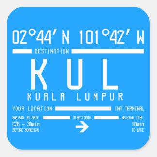 Kuala Lumpur International Airport Code Square Sticker