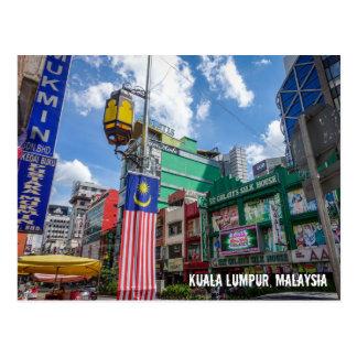 Kuala Lumpur, Malaysia streetview postcard