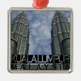 Kuala Lumpur Metal Ornament