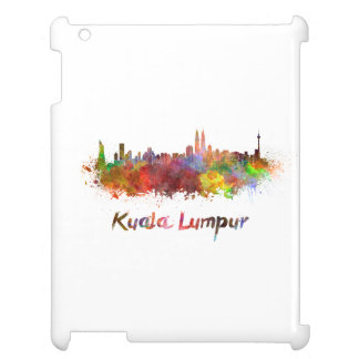 Kuala Lumpur skyline in watercolor Cover For The iPad 2 3 4