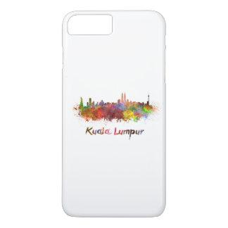 Kuala Lumpur skyline in watercolor iPhone 8 Plus/7 Plus Case