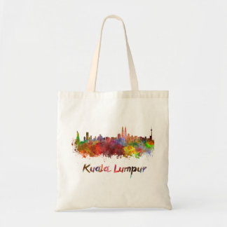Kuala Lumpur skyline in watercolor Tote Bag