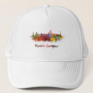 Kuala Lumpur skyline in watercolor Trucker Hat