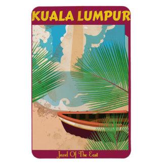 Kuala Lumpur vintage travel poster Magnet