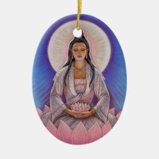 Kuan Yin Oval Christmas Ornament