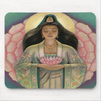 "Kuan Yin ""Pink Lotus Heart"" Mousepad"