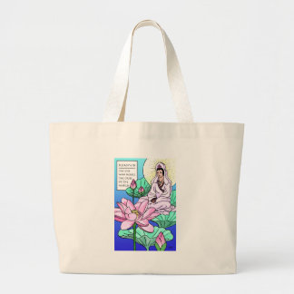 Kuan Yin, Quan Yin, Hears Your Cries Large Tote Bag