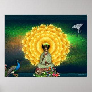 Kuan Yin Wall Tapestry Poster