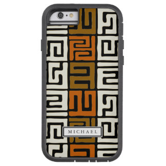 Kuba Cloth Inspired Warm Earth Colors Custom Name Tough Xtreme iPhone 6 Case