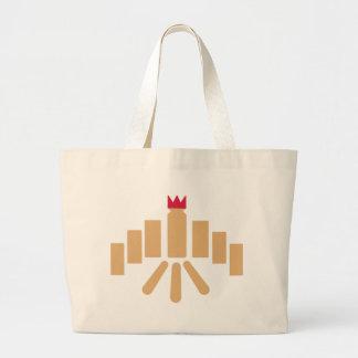 Kubb game large tote bag