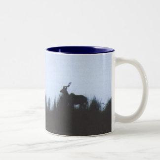 Kudu at Sunset Two-Tone Coffee Mug