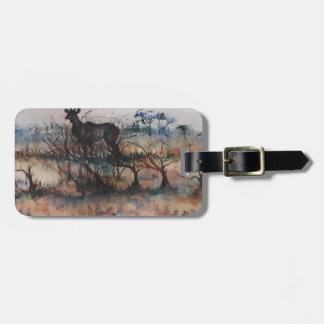 Kudu Bull Luggage Tag