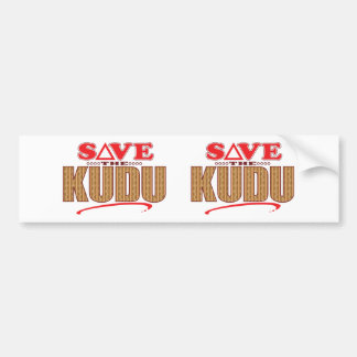 Kudu Save Bumper Sticker