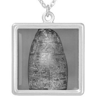 Kudurru Silver Plated Necklace