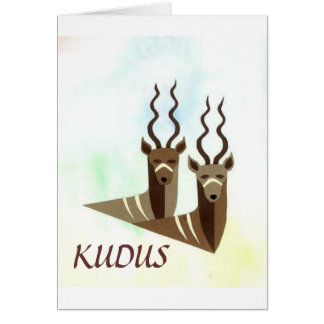 Kudus/Kudos for a Job Well Done Notecard
