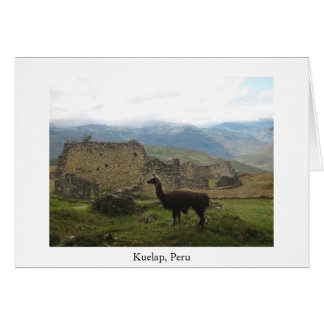 Kuelap, Peru greeting card