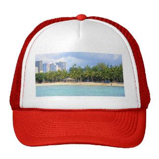 Kuhio Beach at Waikiki, Oahu, Hawaii Mesh Hat