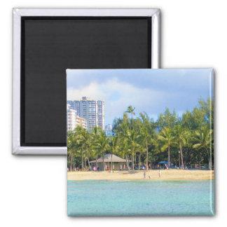 Kuhio Beach at Waikiki, Oahu, Hawaii Magnet