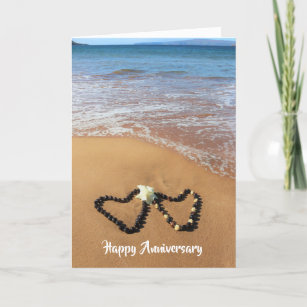 Kukui Nut Lei Happy Anniversary Card
