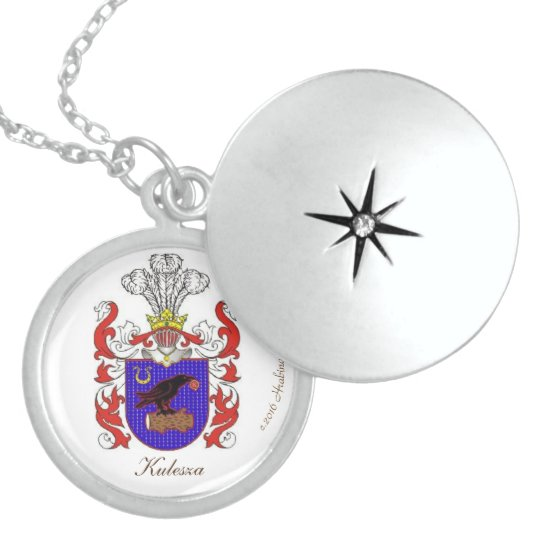 KULESZA FAMILY CREST LOCKET NECKLACE