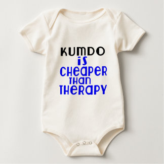Kumdo Is Cheaper  Than Therapy Baby Bodysuit
