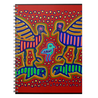 Kuna Indian Birds with Fish Spiral Note Books