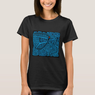 Kuna Indian Blue Bird T-Shirt