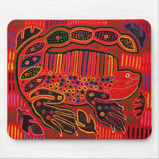 Kuna Indian Iguana Mola Mouse Pad