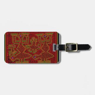 Kuna Indian Mola Spirits Bag Tag