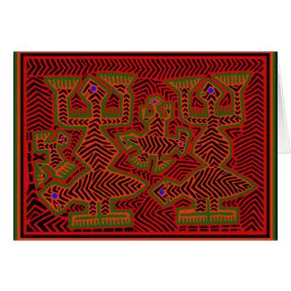 Kuna Indian Mola Spirits Card
