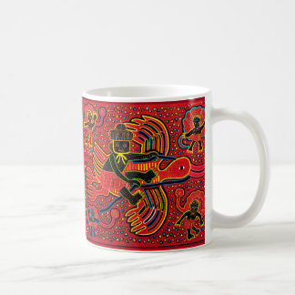 Kuna Indian Stork Bringing Baby Design Coffee Mug