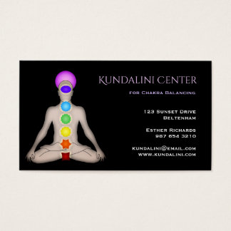 Kundalini Center for Chakra Balancing Business Card