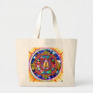 Kundalini Yoga Mandala Large Tote Bag