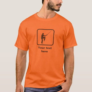 Kung Fu Fighter with Stave Logo - Add A Slogan to T-Shirt